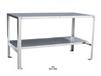 STAINLESS STEEL WORK TABLE WITH LOWER HALF SHELF